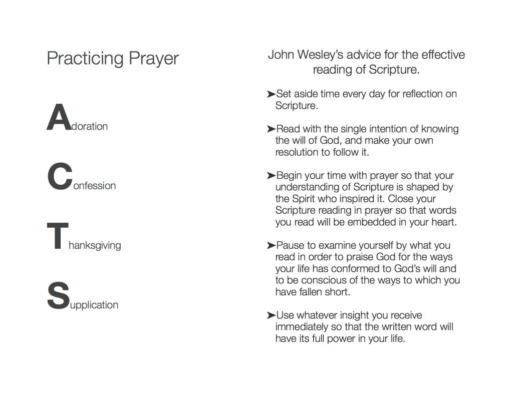 Practicing Prayer